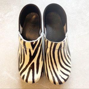 Dansko Zebra Clogs